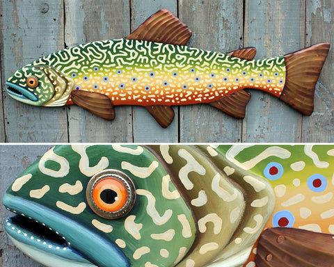 "47"" Brook Trout, Large Fish wall art"