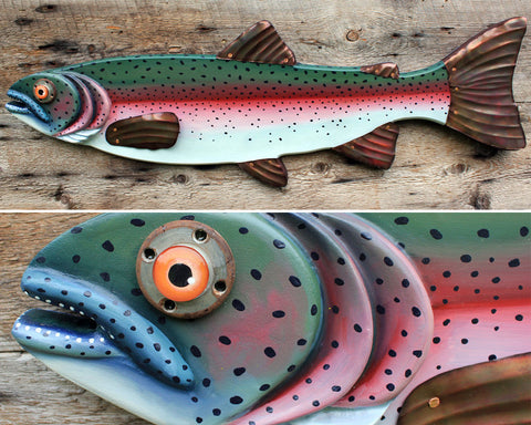 "37"" Rainbow Trout, Large Fish wall art"