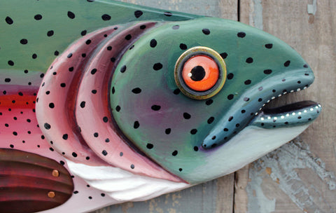 "47"" Rainbow Trout, Large Fish wall art"