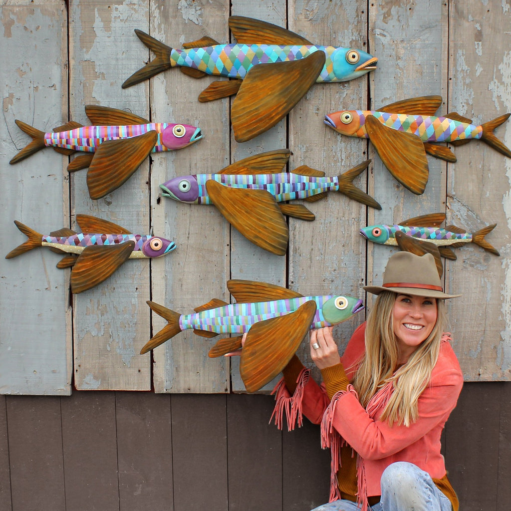 Jude, Flying Fish Wall Art 17""