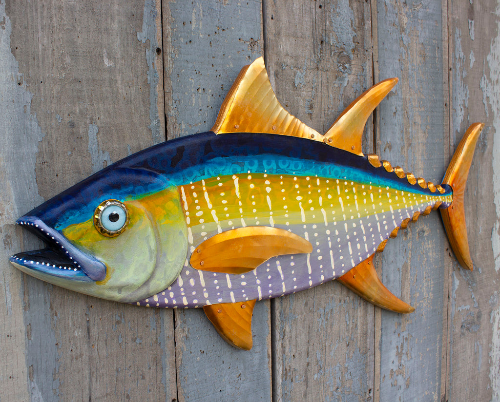 Large Yellowfin Tuna Wall Art 37""
