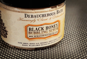 Black Honey Bubbling Scrub - Debaucherous Bath