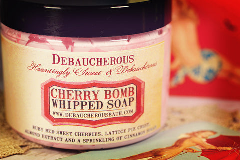 Cherry Bomb Whipped Soap - Debaucherous Bath