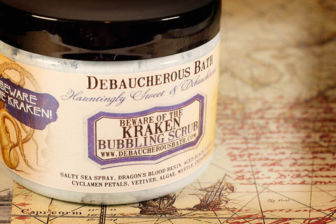 Beware of the Kraken Bubbling Scrub - Debaucherous Bath