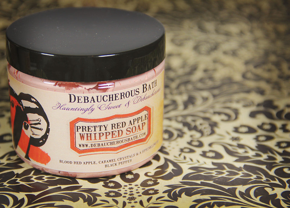 Pretty Red Apple Whipped Soap