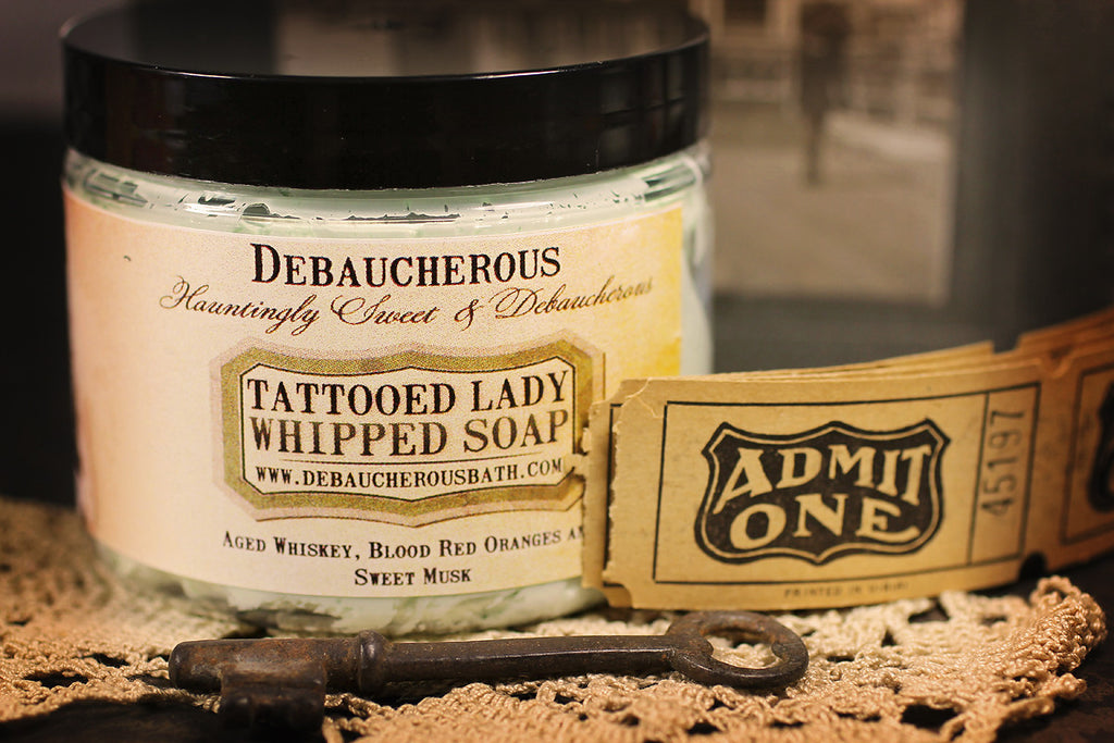 The Tattooed Lady Whipped Soap