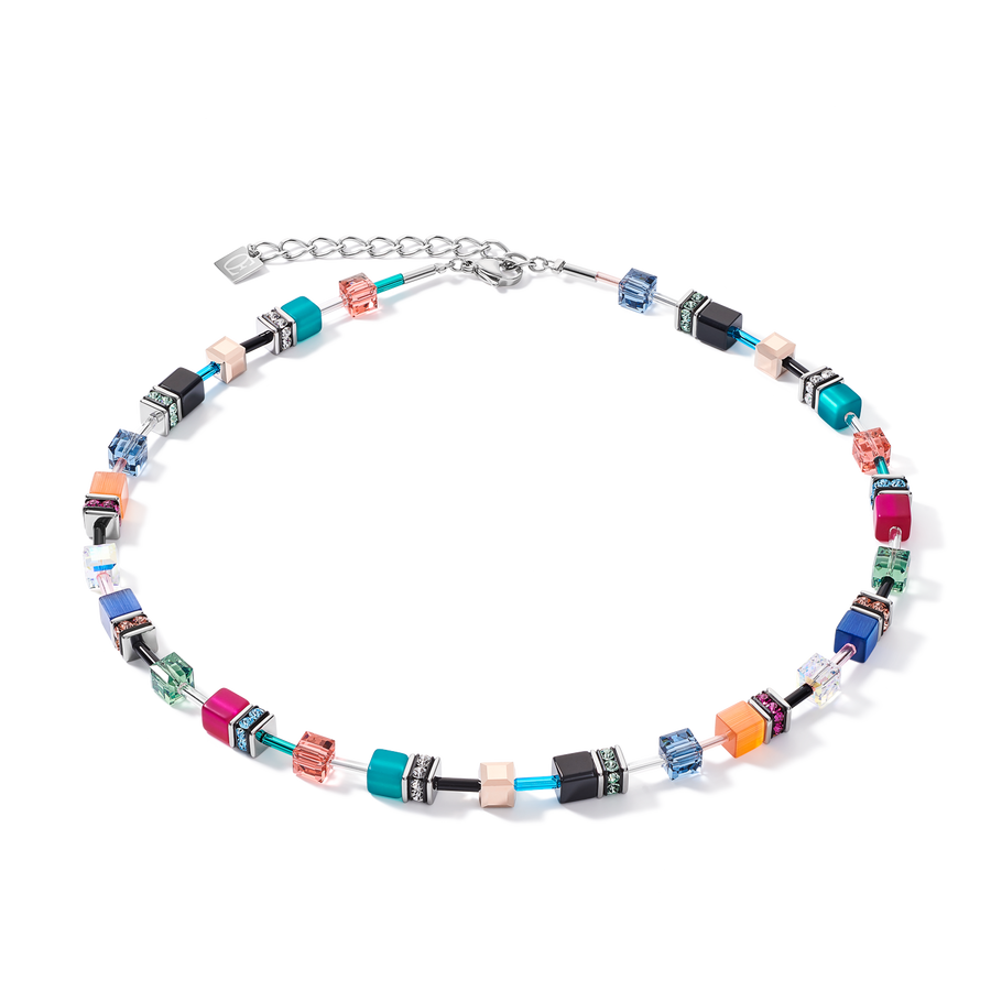 Collier GeoCUBE® multicolore ethno