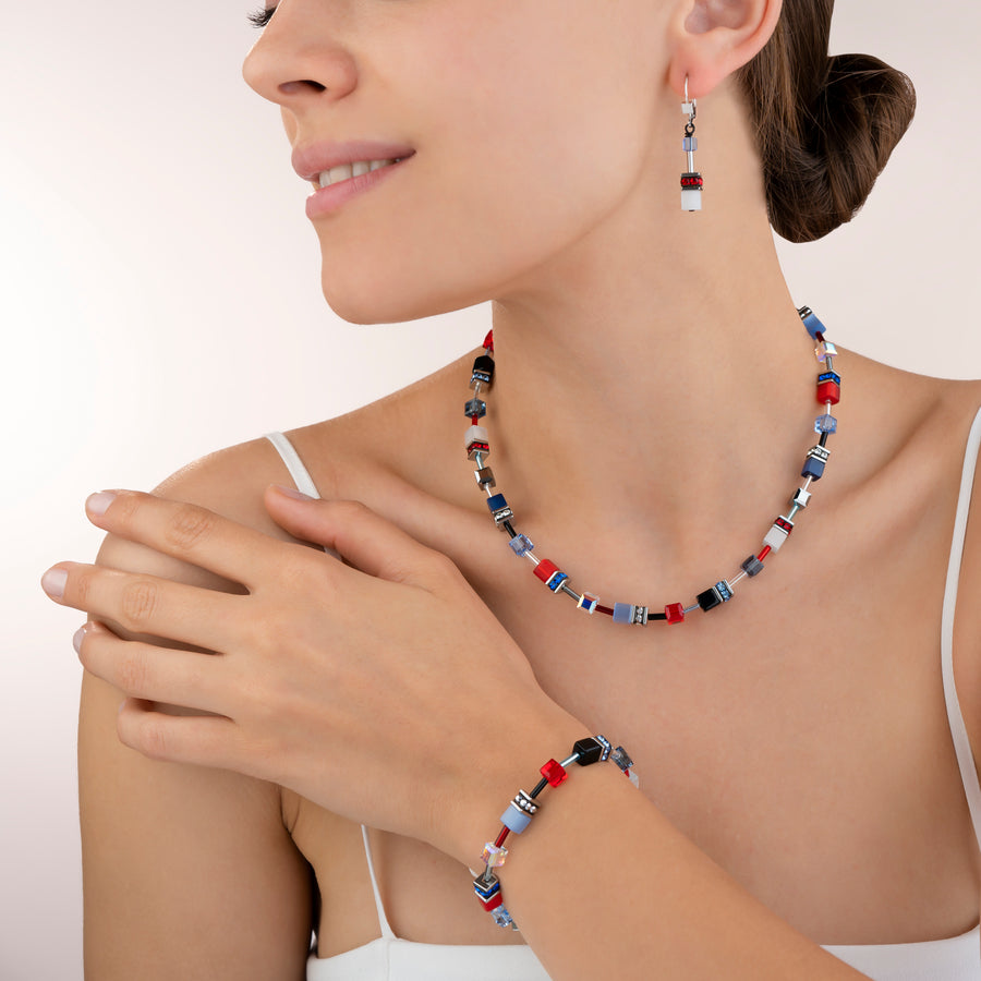 Bracelet GeoCUBE® bleu-red