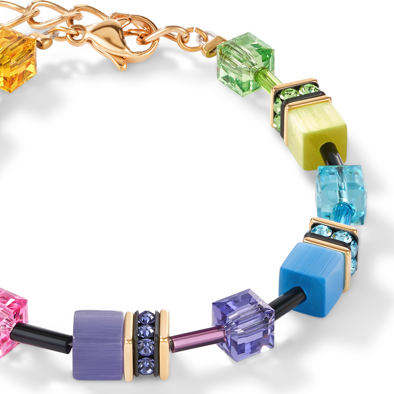 Bracelet GeoCUBE® multicolore rainbow gold