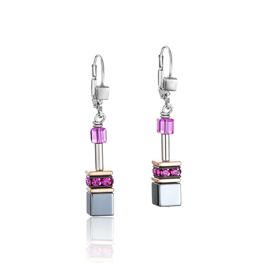 Boucles d'oreille GeoCUBE® multicolore