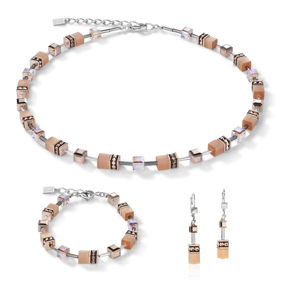 Collier GeoCUBE® peach