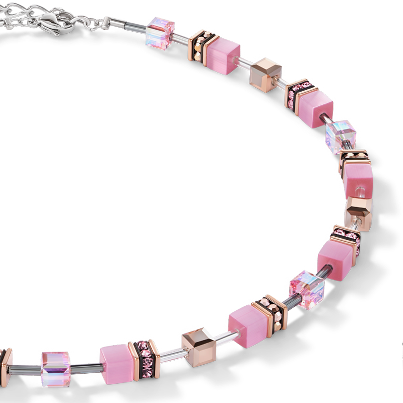 Collier GeoCUBE® rose clair
