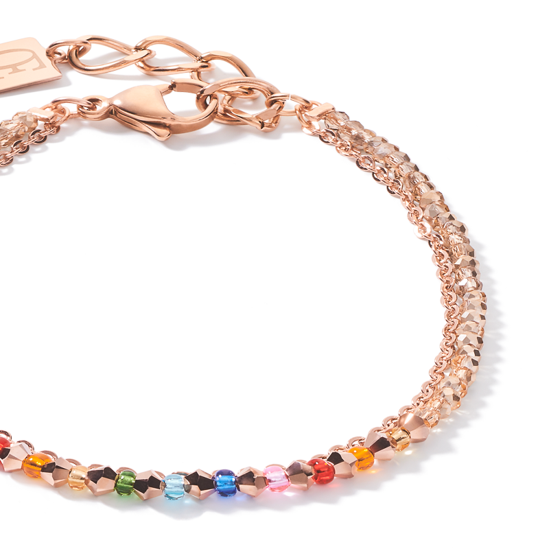 Bracelet fine waterfall or rose-muticolore