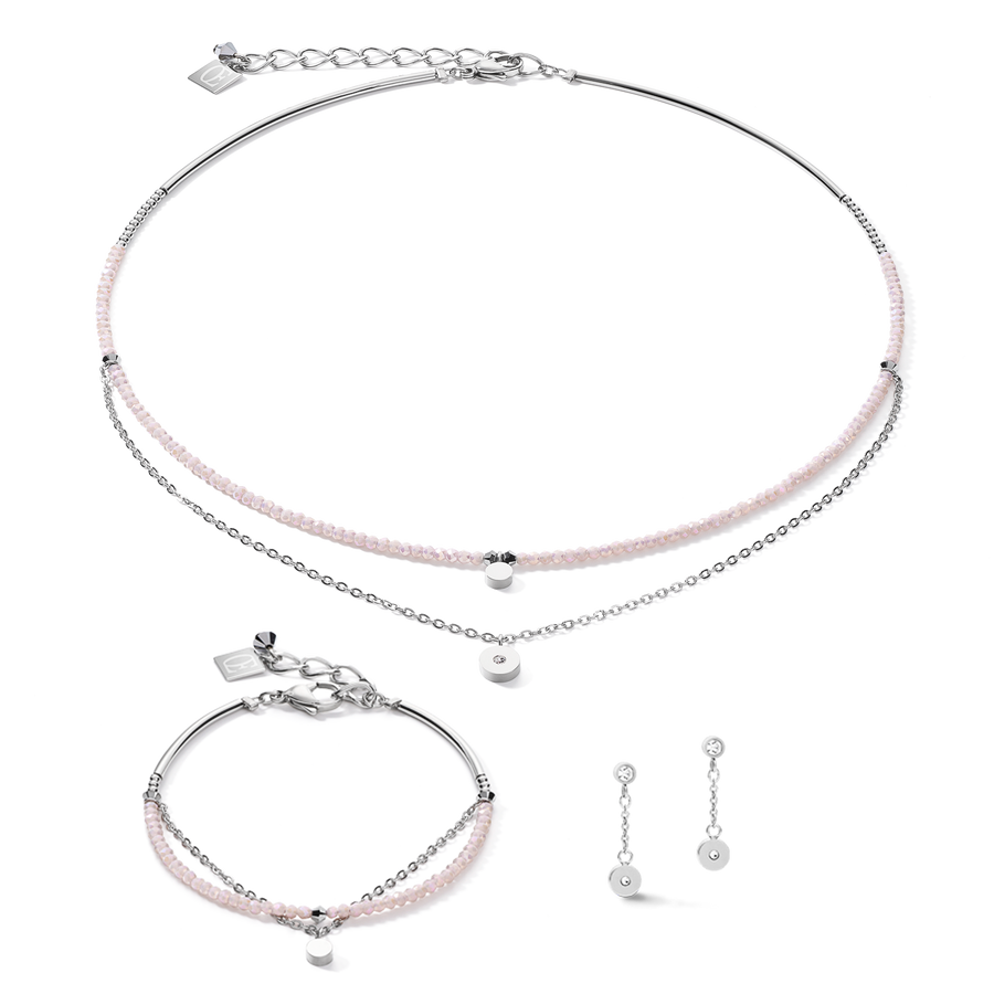 Collier Coins & Chain argent-lilas