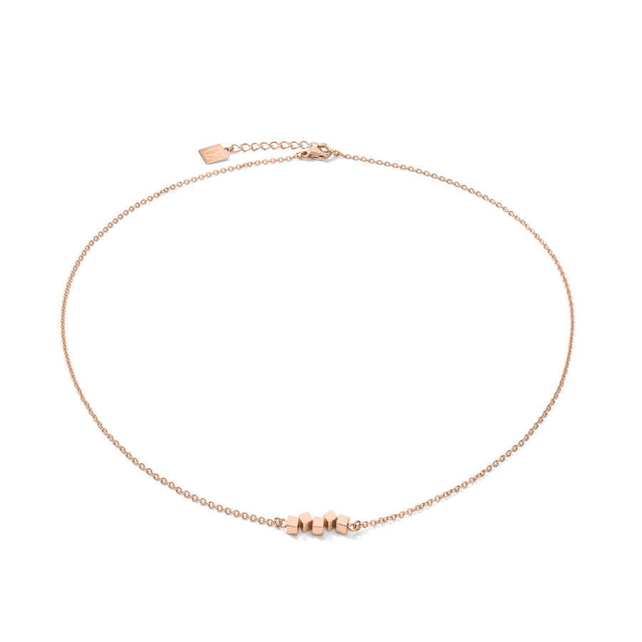 Collier Dancing GeoCUBE® small acier or rose