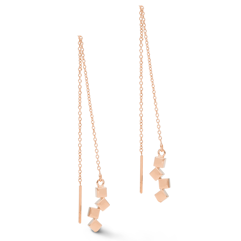 Boucles d'or roseeille Dancing GeoCUBE® small acier or rose
