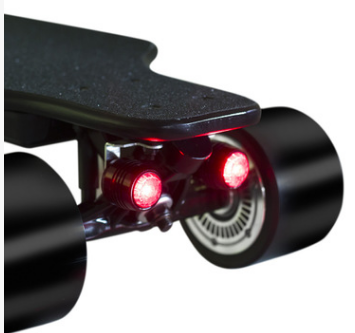 Bright and rechargable safety Led light for Diy electric skateboard
