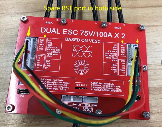 using canbus cable to flash bricked vesc