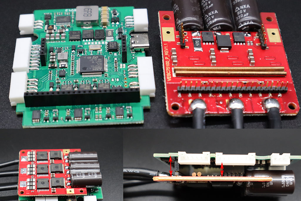 straight dip pins for logic board and power stage for single ubox
