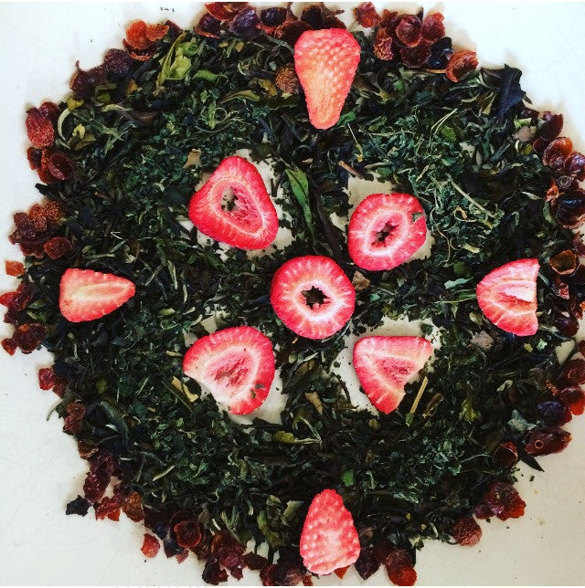 Strawberry Moon -- White Tea & Herbs, caffeine