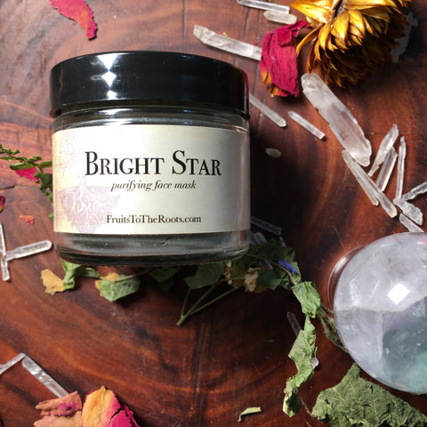 Bright Star, willow bark & green tea mask