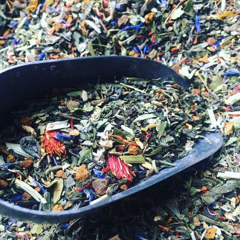 Meadow Spirit -- Green & Black Teas with Herbs, caffeine