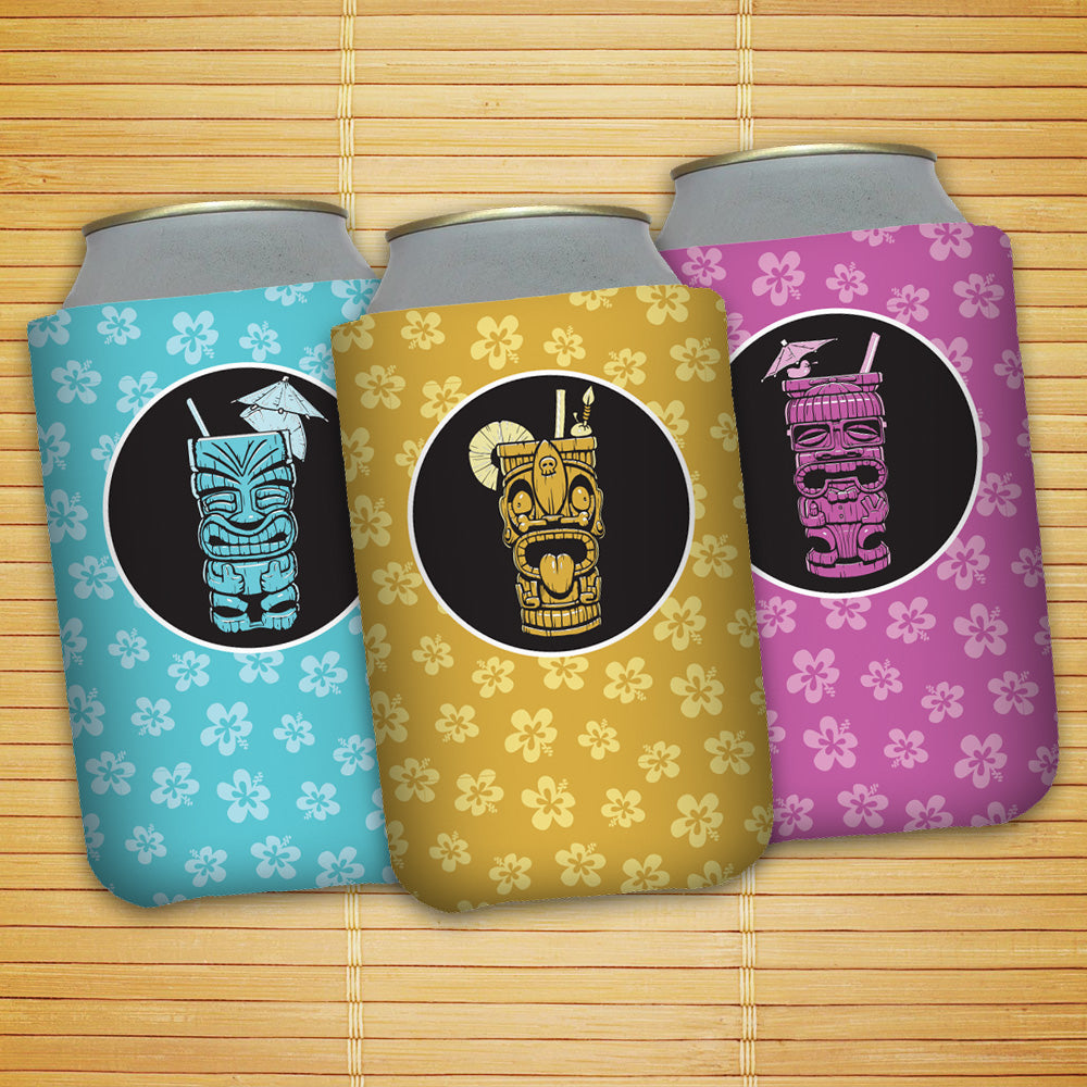 Tiki Mugs Koozie Set - Cheeky, Freaky, and Geeky