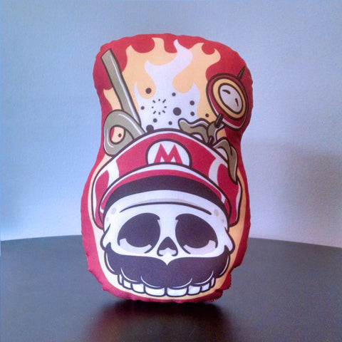 "Fire Flower Punch - 8"" Stuffed Tiki Mug"