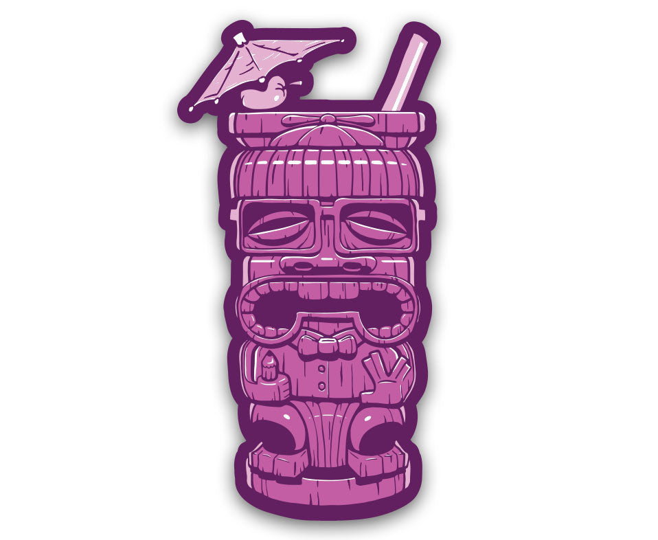 "Geeky Tiki - 6"" Vinyl Decal"