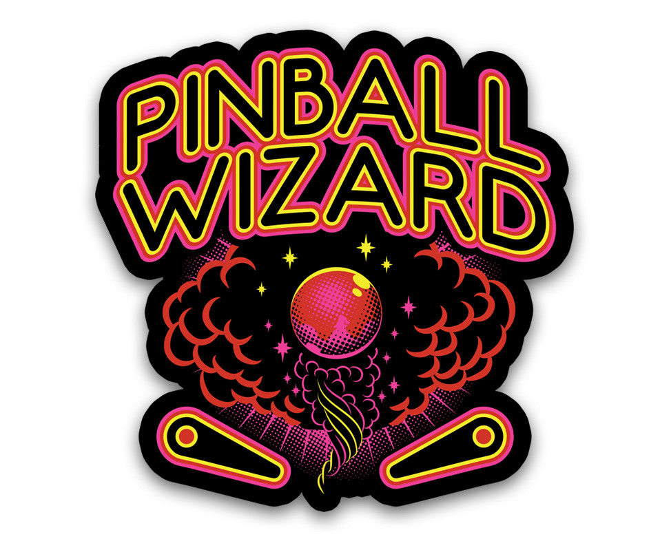 "Pinball Wizard - 4"" Vinyl Decal"