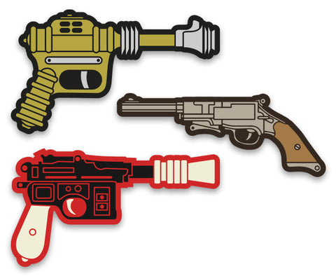 Raygun Hero Stickers - Vinyl Decal Set