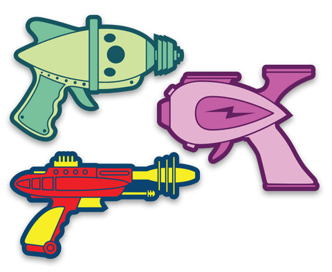 Raygun Toy Stickers - Vinyl Decal Set