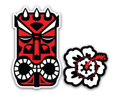 "Tiki Darth Maul - 6"" Vinyl Decal"