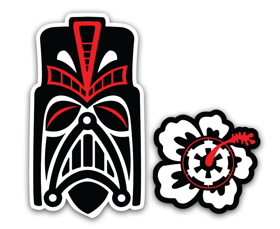 "Tiki Darth Vader - 6"" Vinyl Decal"