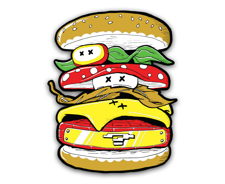 "Power Burger - 6"" Vinyl Decal"