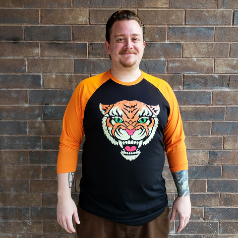 Mandy Tiger - Raglan  Baseball Shirt