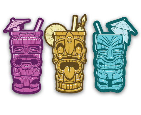 Tiki Mugs - Vinyl Decal Set
