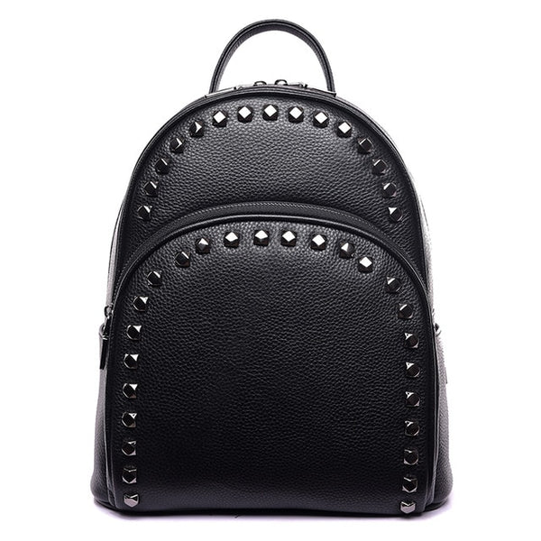 Leather Backpack With Zip Detail