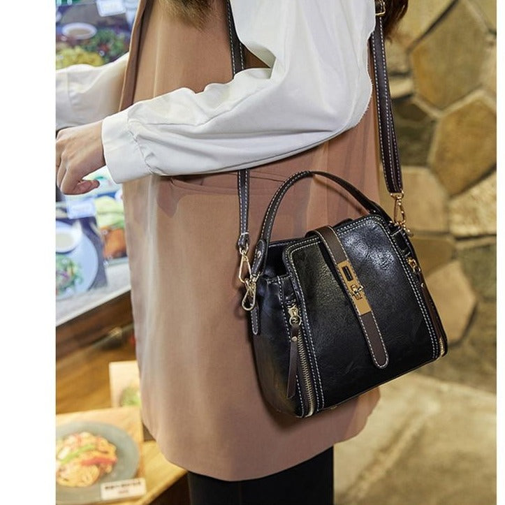 Cross Body Bag With Buckle