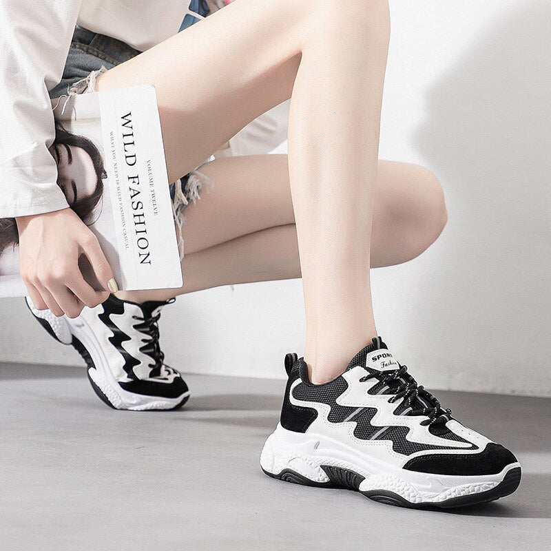 Run for It Chunky Mesh Sneakers