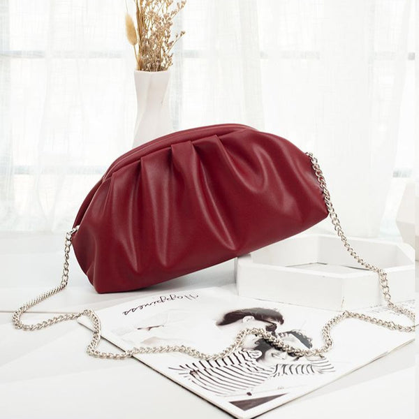 Cloud Clutch Bag With Chain