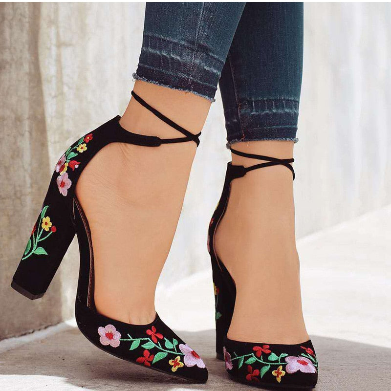 Going Up Lace-Up Heeled Sandals