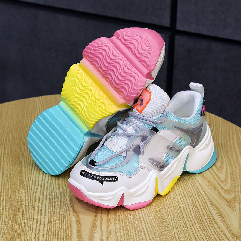 Rainbow Sole Chunky Sneakers