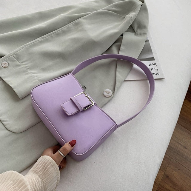 Shoulder Bag With Statement Buckle