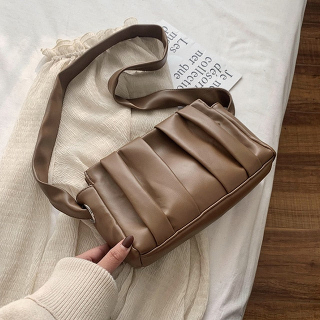 Pleated Cloud Shoulder Bag