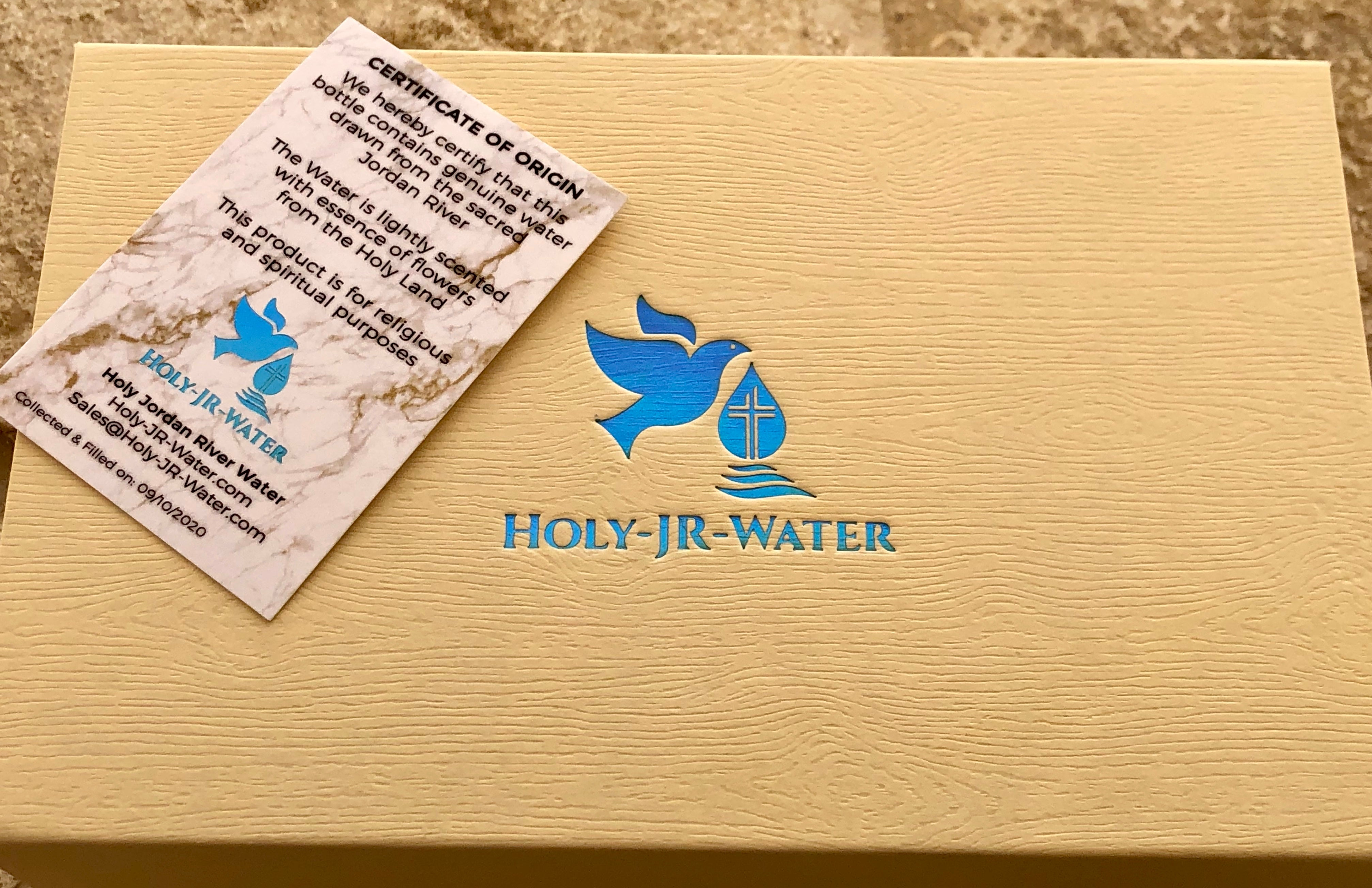Holy Water Bottle From The Antique Jordan River For Catholic Home Christmas Gift Blessed By Lourdes Packed In Unique Reusable Box With A Certificate Card