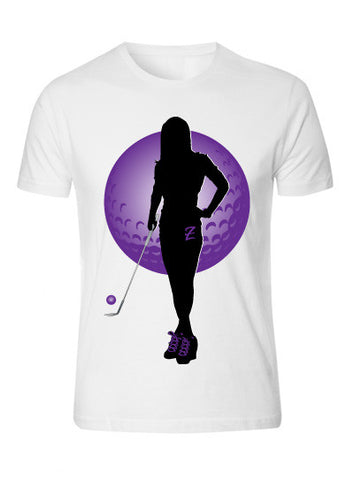 White Men's with Purple Contour 'Z' T-Shirt