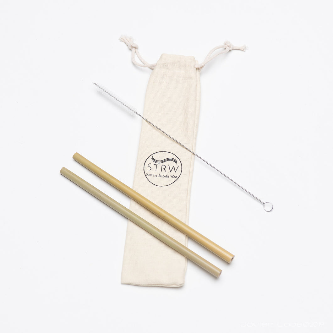 Reusable Bamboo Straw Pack