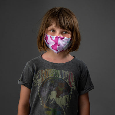 Kids! Pink Camo 2-Pack Daily Face Masks-reNEU Earth