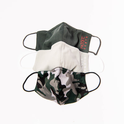 Green Camo Collection 3-Pack Daily Face Masks-reNEU Earth